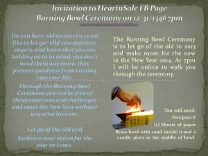 Invitation to HeartnSole FB Page